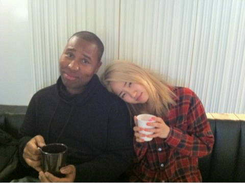 110119 Claude Kelly's Twitter  New Pic! Me and Yenny of the#Wondergirls! She's feeling a lil sick today. I'm taking care of her…sort of ;)