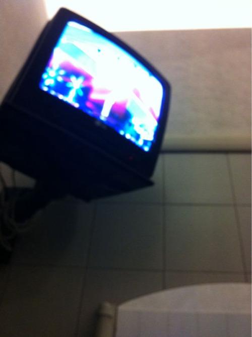Il televisore del camerino.