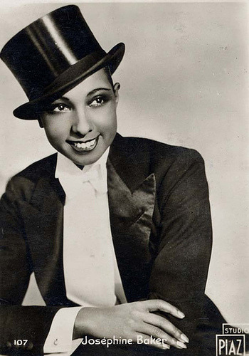 Josephine Baker looking dandy in a suit