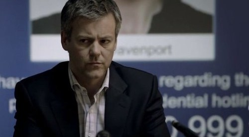 Actor Rupert Graves looking concerned
