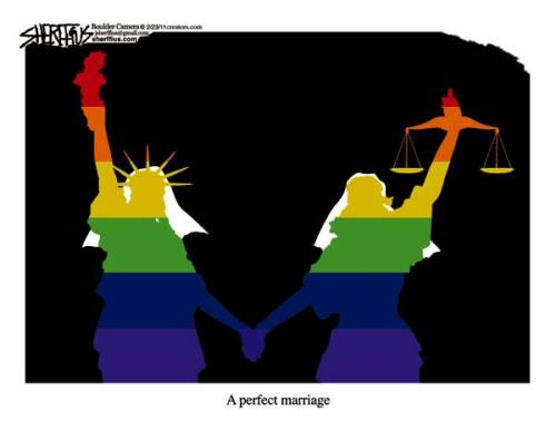 gay perfect marriage statue of liberty lady justice