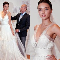 Miranda Kerr in Wedding Dress