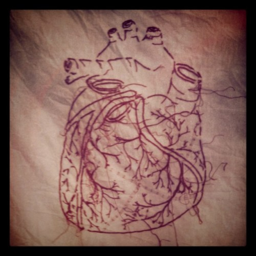 Anatomical Heart Embroidery from Scarlet Tentacle