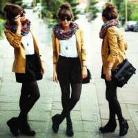 Casual outfit with scarf!