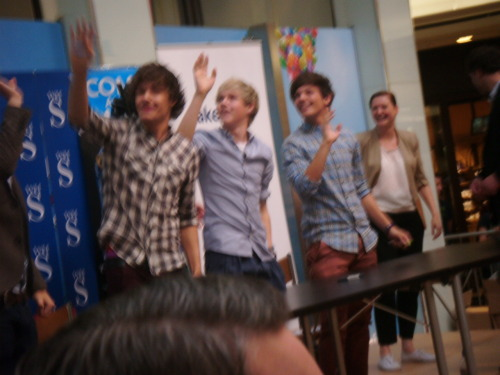 this is a picture i took from today! its crap but the best one i got :D never been so happy in my life; i got a hug from all of them except zayb :-( ohh well maybe next time ehh? :D