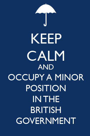 BBC Sherlock Mycroft Holmes Keep Calm and occupy a minor government position image