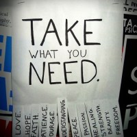Guest Post from the Originator of the Take What You Need Projects - Katie North