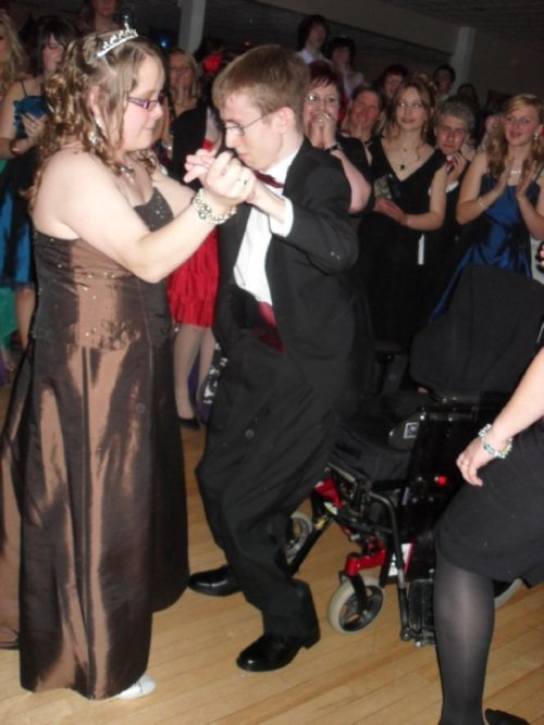 Non of you probably care, but this is my brother Jack. He is wheelchair bound and can only walk about 5 steps. At his prom a girl that he liked asked him to dance so he stood up and danced with her while the rest of the year clapped and his teachers cried.<br />i love you jack.