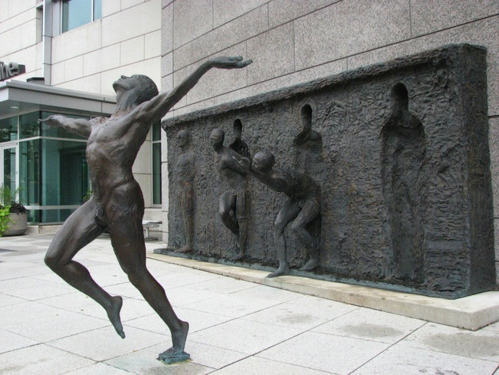 Sculpture Breaks Free by Zeno Frudakis
