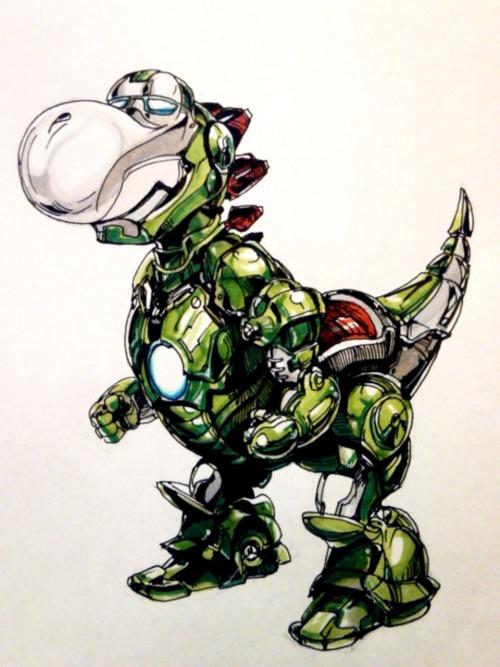When Yoshi inhaled Iron Man and his powers, the Mushroom Kingdom was no longer the same. Awesome Marvel / Mario Bros.mash up byNekoixa. Iron Yoshi byNekoixa(YouTube) (Flickr) (Twitter) Via:noahbodie|deadlydelmundo