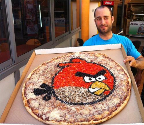 Angry Birds Pizza - Pizza aus der Online Game Welt