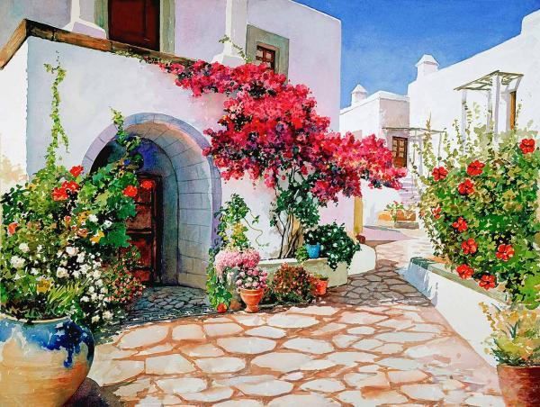 Watercolor Landscape by Pantelis D. Zografos