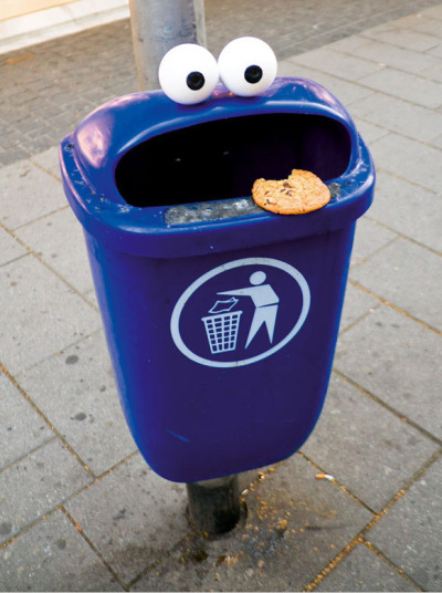 Trash Can That Looks Like The Cookie Monster
