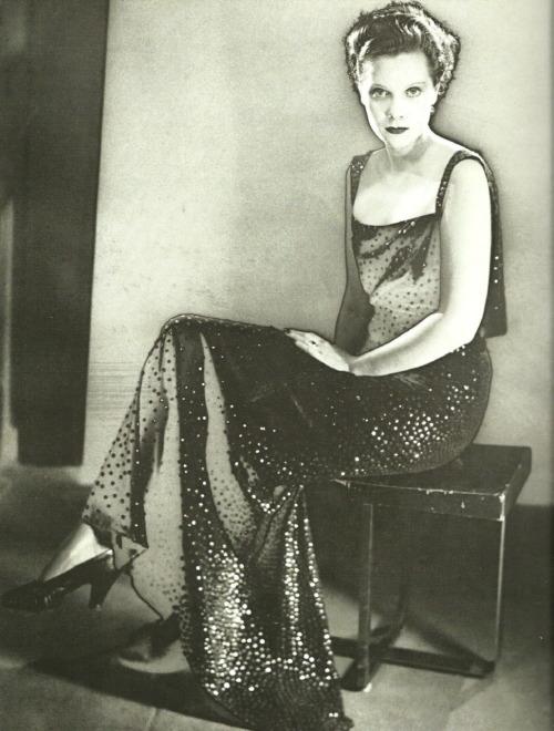 Princess Nathalie Paley in Lucien Lelong by Man Ray, 1935