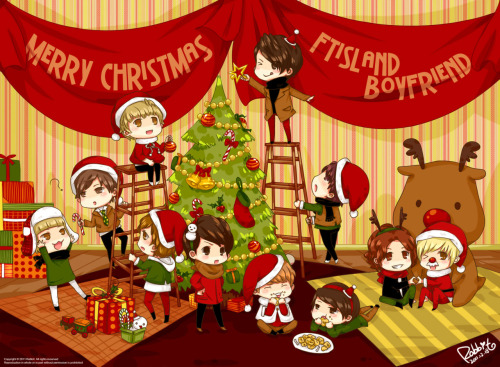 zelinair:</p> <p>Cute fanart from Rabbit_兔兔 (weibo).<br /> Merry Christmas! (I love her fanart!)<br />