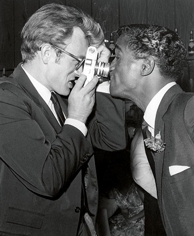 James Dean and Sammy Davis Jr.