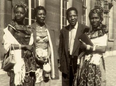Aimé Césaire at the first Congress of Black Writers and Artists<br /><br /><br /><br /><br /><br /><br /><br /><br /><br /><br /><br /> (Paris 1956)