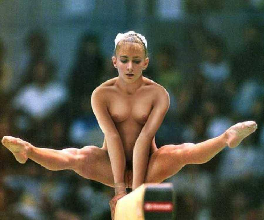 Are absolutely Naked women doing gymnastics for that