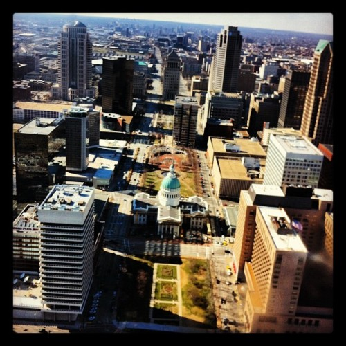 View from the top: St. Louis Arch