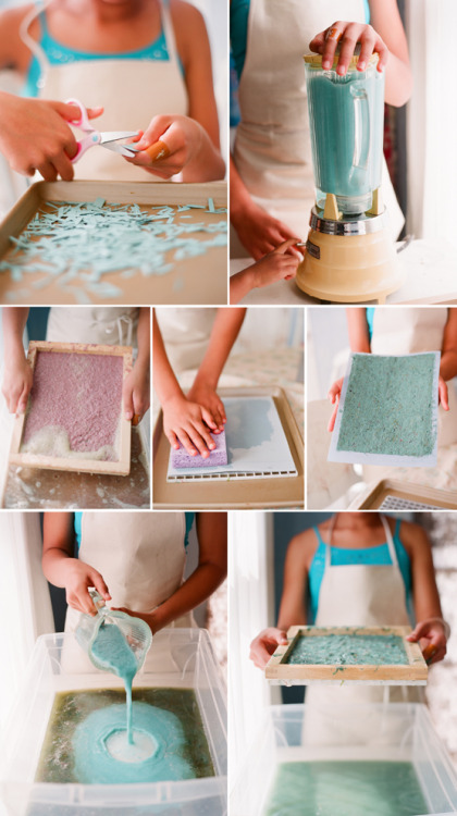 artpixie:</p> <p>Handmade Paper by Kiss the Groom</p> <p>I gotta try this sometime!
