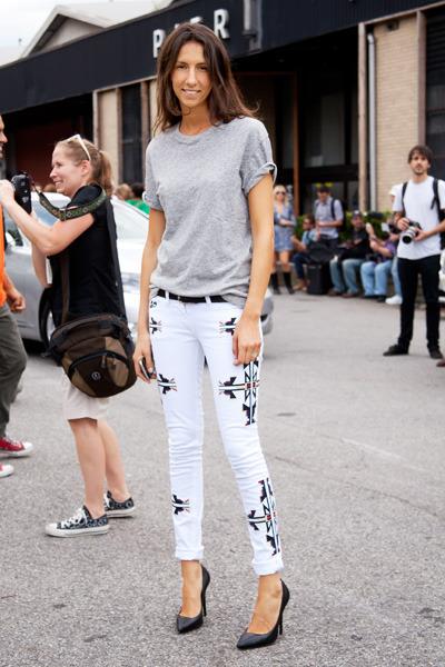 Isabel Marant: stylist Geraldine Saglio in A/W 11-12 jeans. (image: harpersbazaar)