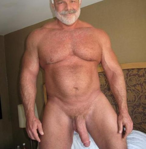 old men showing big cocks