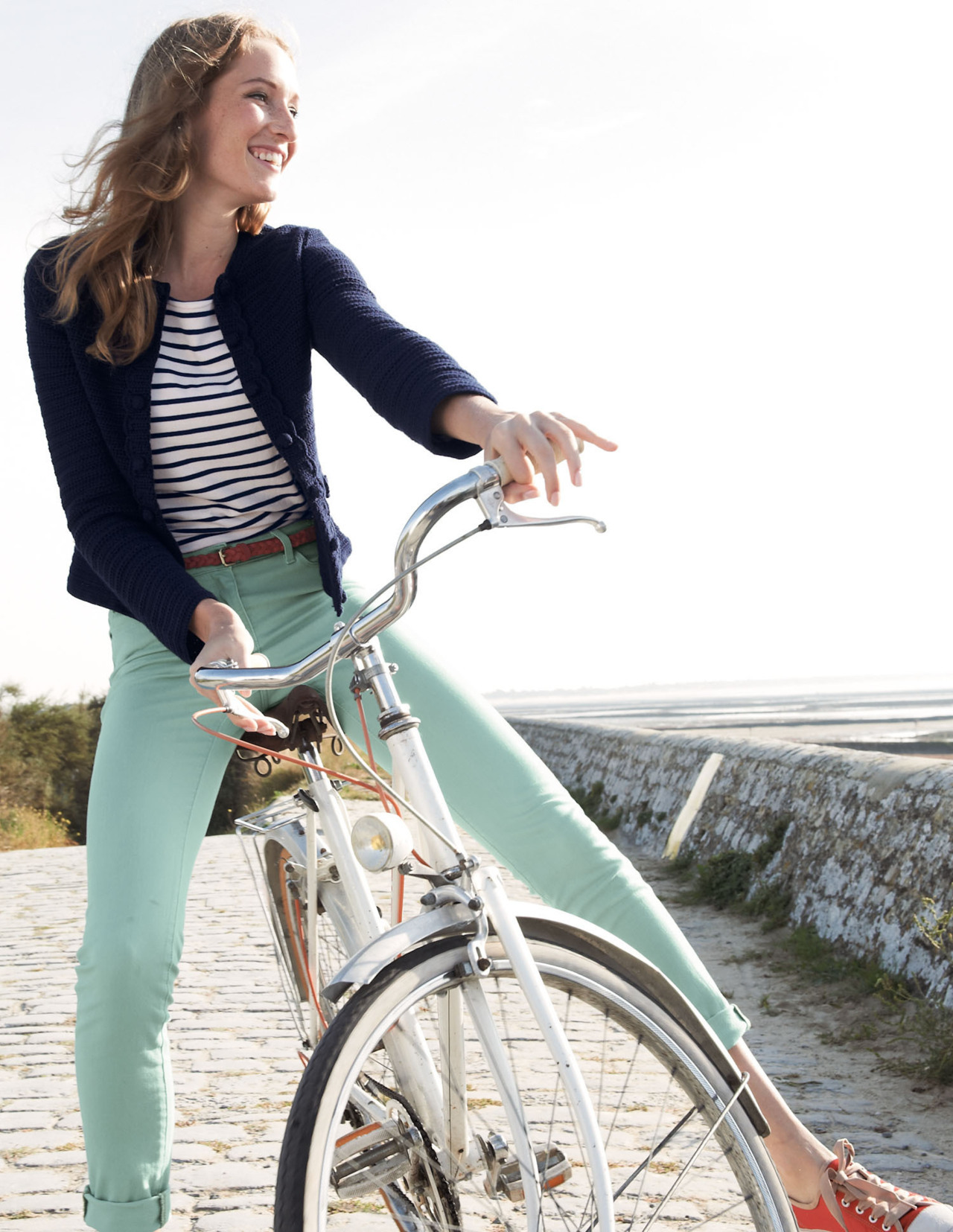 Jeans Menta, Mint jeans, look para andar en bicicleta, bike outfit