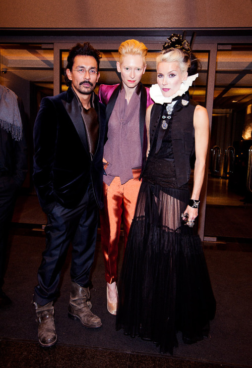 Daphne Guinness and Tilda Swinton