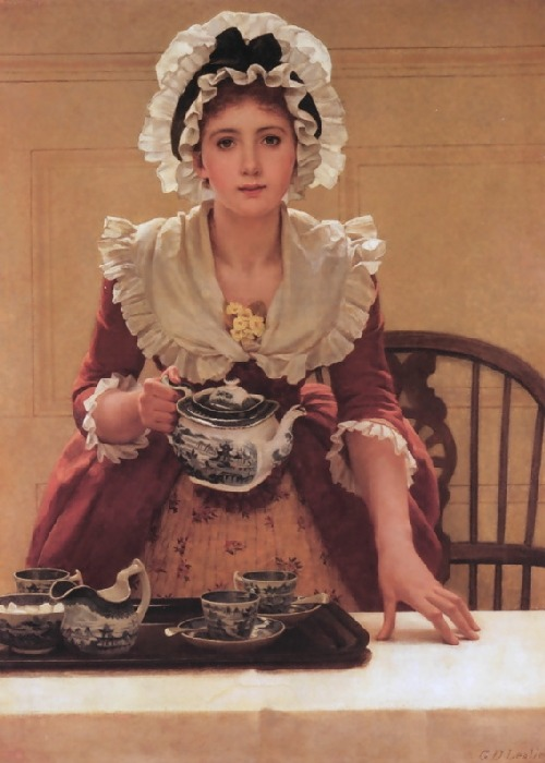 George Dunlop Leslie, Tea, (exhibited 1894)