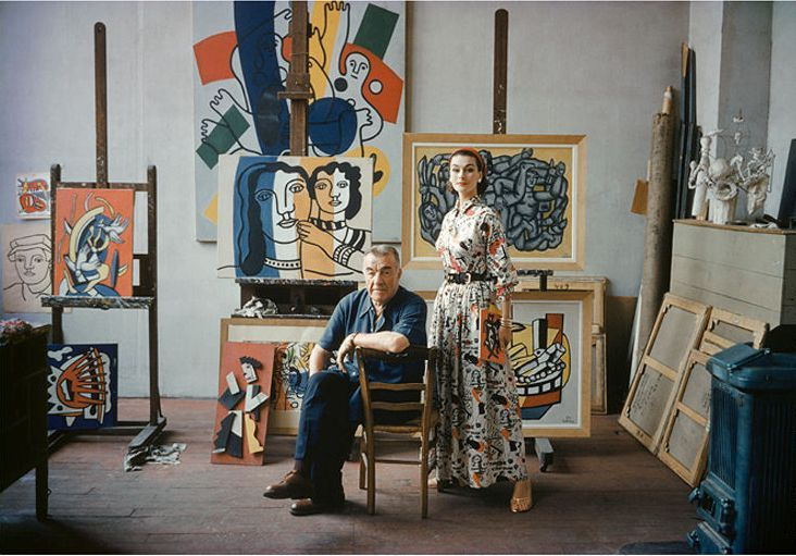 Fernand Leger, Paris, 1954.  Photo by Mark Shaw.