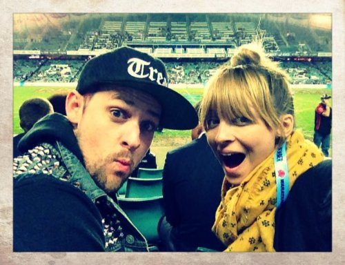 Nicole and Me at the Rugby game in Sydney. Perfect Date.