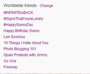 For Sunny's Birthday Trends 3rd, 4th and 5th <3 #HappySunnyDay  Happy Birthday Sunny Lee Soonkyu