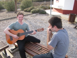 Jammin' at the rest stop in Portugal