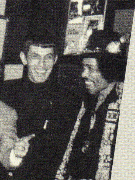 Leonard Nimoy and Jimi Hendrix, 1970