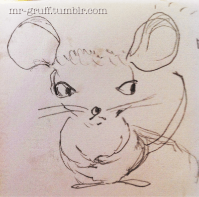 Worry Mouse.(it's terribly true, I worry. It's incessant. Aren't her little hands just so damn perfect?)