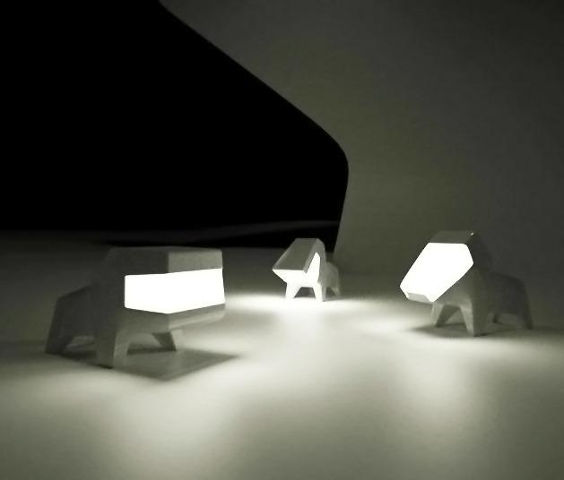 Dog lamp by Hellokarl Studio