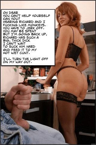 slut wife cuckold caption