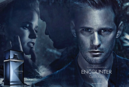 Alexander Skarsgard is the new face of the Calvin Kline fragrence Encounter. I don't like it. They've airbrushed the worry lines from his brow, the bags under his eyes, his crow's feet and it even looks like they even thinned out his nose. Grrrr… When will they realize that it's all the imperfections coming together in a perfect storm that makes him so handsome?