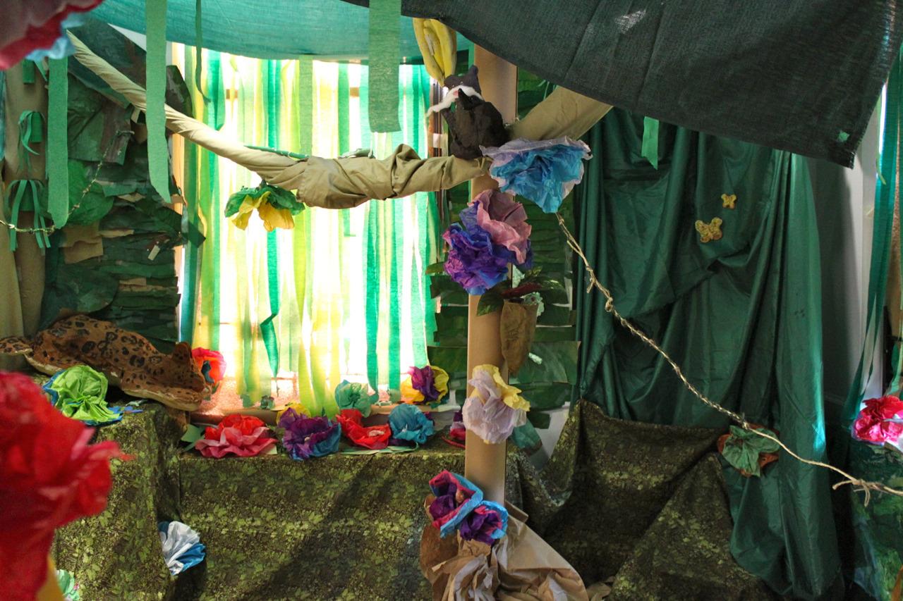 Classroom Rainforest Display