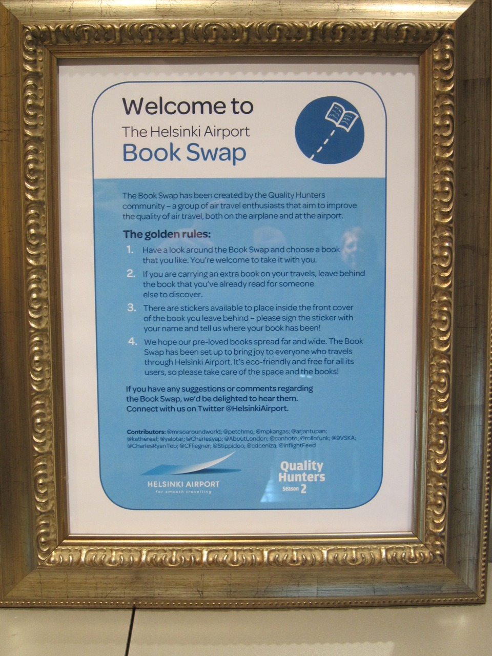 The Helsinki Airport Book Swap Golden Rules