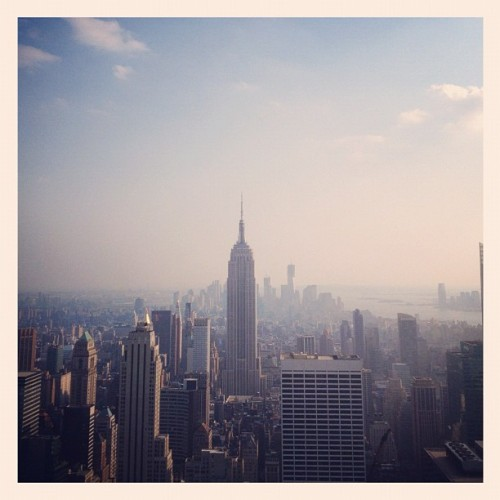 New York, I love you! (Taken with Instagram at Top of The Rock Observation Deck)