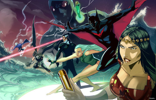 Artwork from Justice League Beyond, by Peter Nguyen