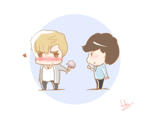 krislay - ice cream loveart by me (tangerine-skye)also at my deviantart > here <