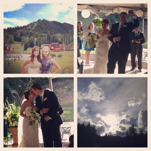 Congratulations Keelie and David! Wishing you both endless years of wedded bliss! (Taken with Instagram at Red Pine Lodge)
