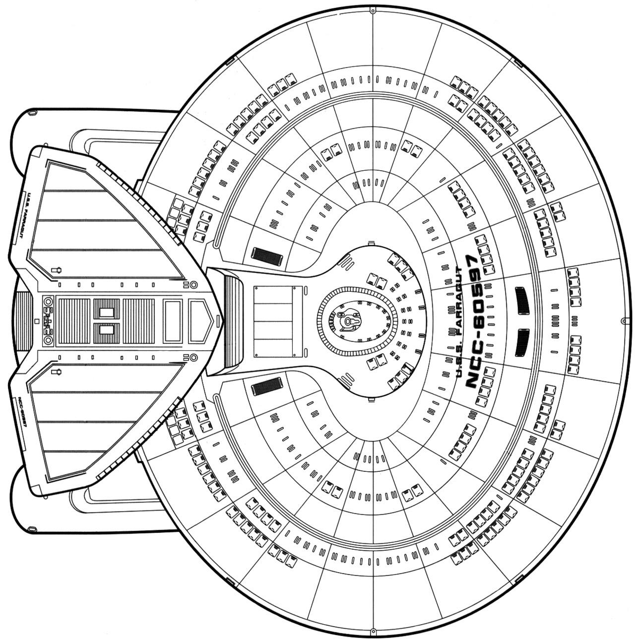 Starfleet Ships Nebula Class Dorsal Schematic