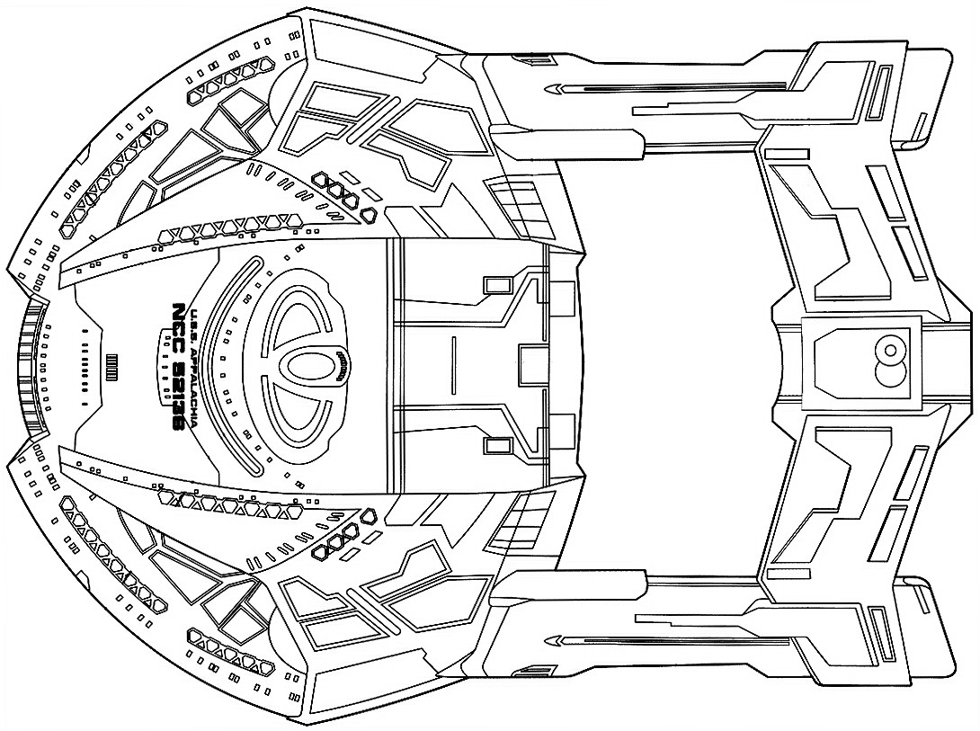 Starfleet Ships Dorsal Schematic For The Steamrunner Class