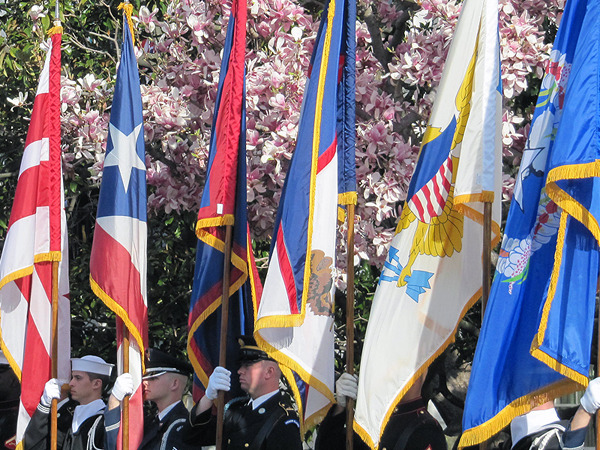 from left to right: DC, Puerto Rico, Guam, American Samoa, US Virgin Islands, Northern Mariana Islands