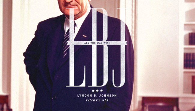 """Thirty-Sixth President: Lyndon B. Johnson (1963-1969)<br /> His election slogan was """"All the way with LBJ"""". As seen here.</p> <p>""""I am concerned about the whole man. I am concerned about what the people, using their government as an instrument and a tool, can do toward building the whole man, which will mean a better society and a better world.""""<br />"""