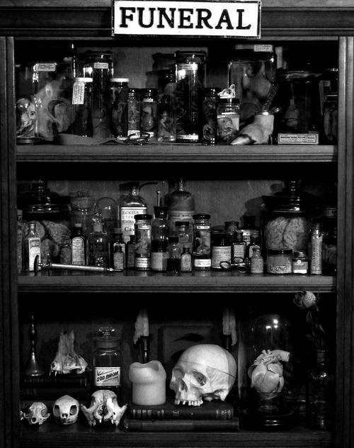 scary creepy drugs dark skull freak bones darkness funeral potions