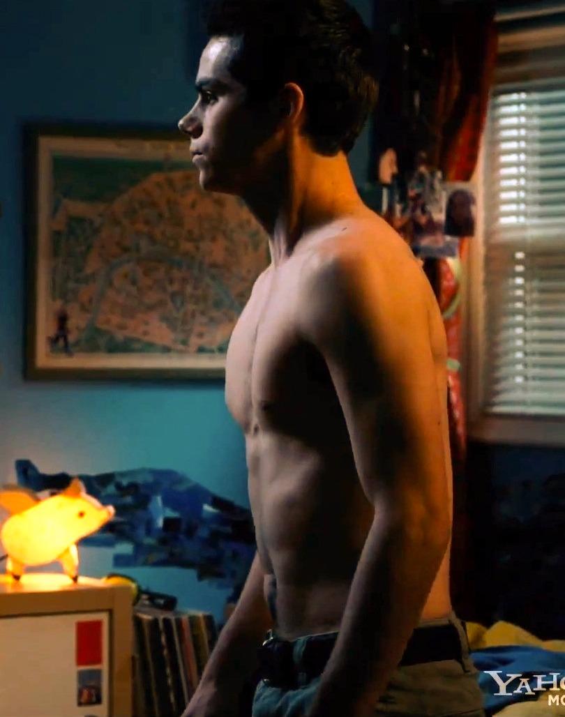 Dylan O'Brien shirtless
